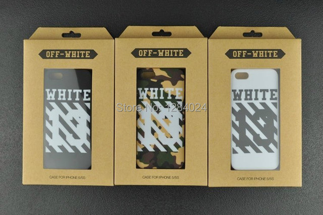 pretty nice 61702 f2b7b US $8.55  New 2014 Wholesale Fashion Brand OFF WHITE Phone Cases For Apple  iPhone 5 5s Back Cover Capa Celular Free Shipping on Aliexpress.com   ...