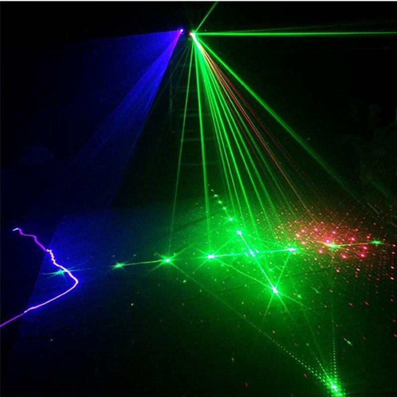 AUCD DMX 4 Lens RGB Red Green Blue Beam Pattern Network Laser Light ...
