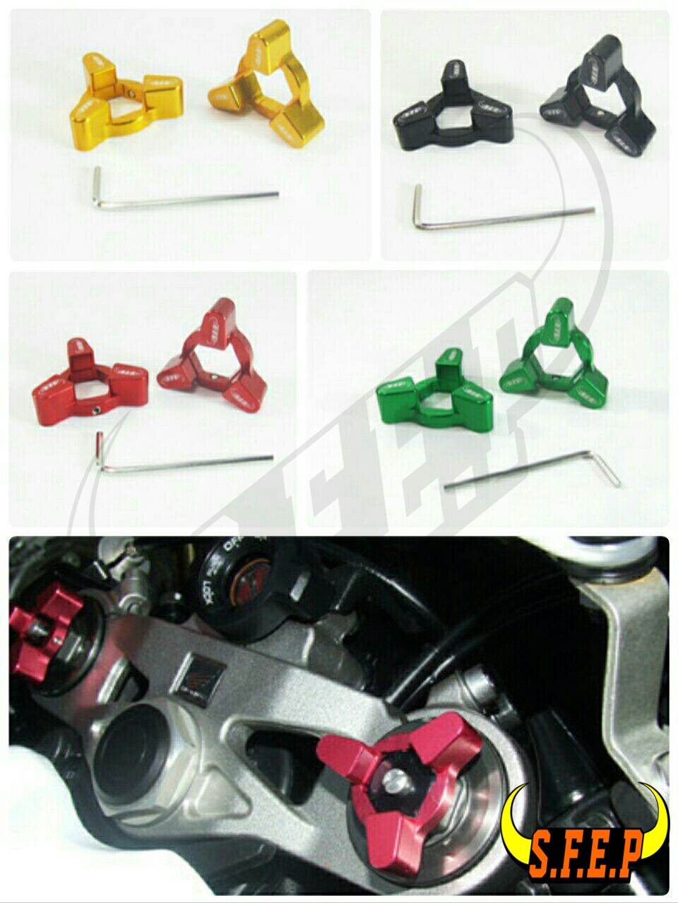 Motorcycle CNC Fork Preload Adjusters For Ducati Streetfighter S 2010/ 1198 S /M1100 S Monster 09-10/ 1098 S/ Tricolor/ R 07-08