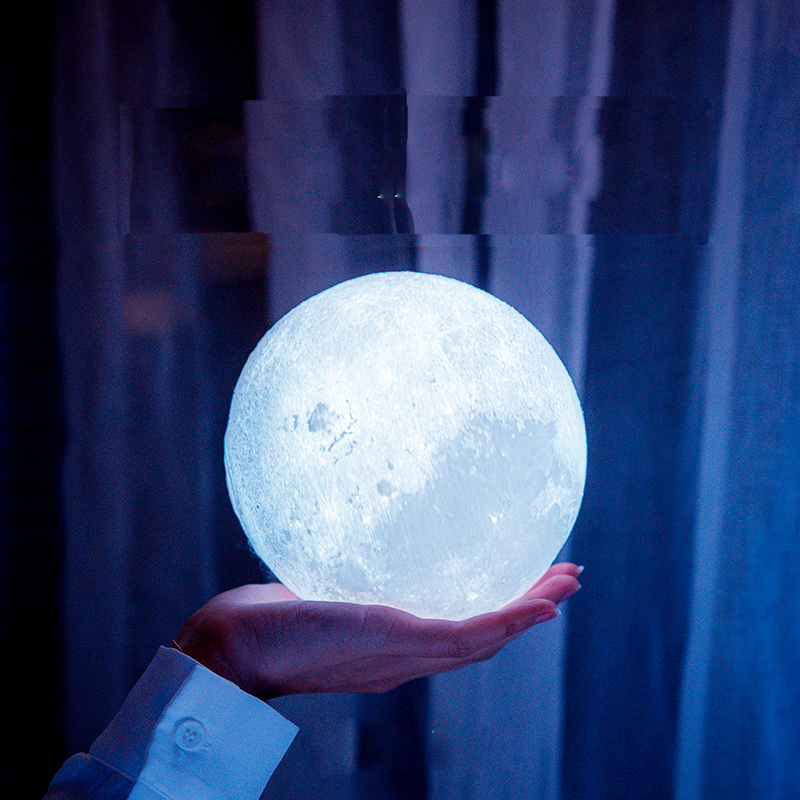 Recharageable 3D Print Moon Lamp 3D Lunar Lamp Night Lights Creative Gift For Girlfriend Bedroom Indoor Luminarias Decoration