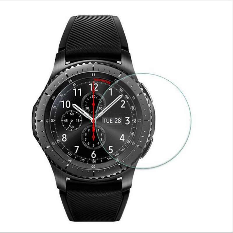 طبقة رقيقة واقية جدا واضحة الحرس لسامسونج والعتاد S3 الكلاسيكية/الحدود الزجاج المقسى ساعة ذكية عرض واقي للشاشة غطاء