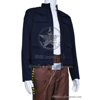 Star Wars The Empire Strikes Back Cosplay Han Solo Costume Jacket Coat Outfits Suit Halloween Fashion Party Fast Shipping