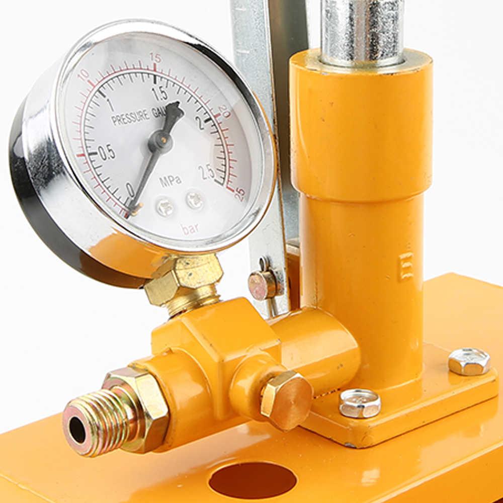 """PPR D'aluminium 2.5MPa Pompe D'essai de Pression de 25KG de Pression D'eau Testeur de Pompe D'essai Hydraulique Manuelle Machine avec G1/2 """"Tuyau"""