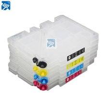 Cartucho de tinta recarregáveis para ricoh gc31 para ricoh e2600,e3300, e3300n, e3350n, e5050n, e5550n, e5550n impressora com chip