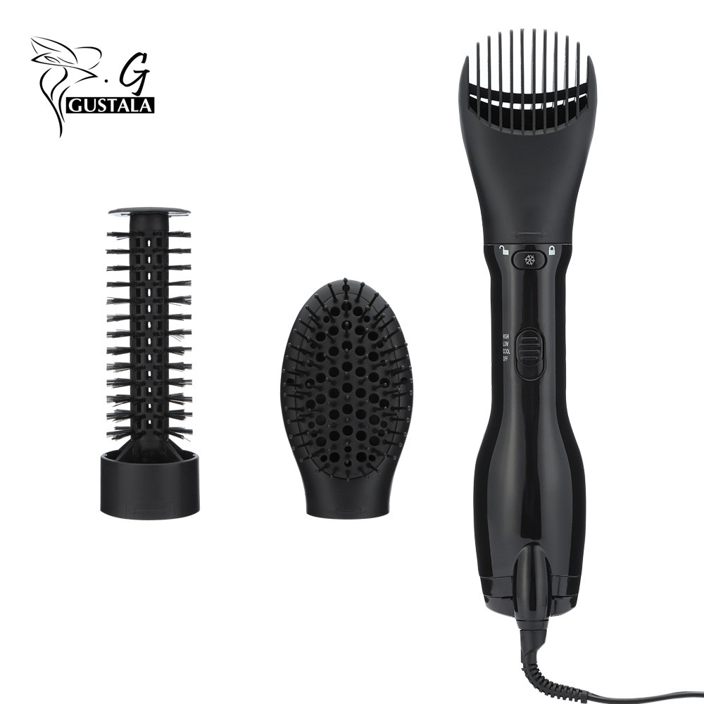 1000W Anion Function Hair Dryer Professional Blow Dryer Hairdryer Brush Hot Air Styler Low Noise With Adjustable Temperature professional styling tools electric hair curler dryer roller 8 in 1 multi function hairdryer set brush comb hot air styler