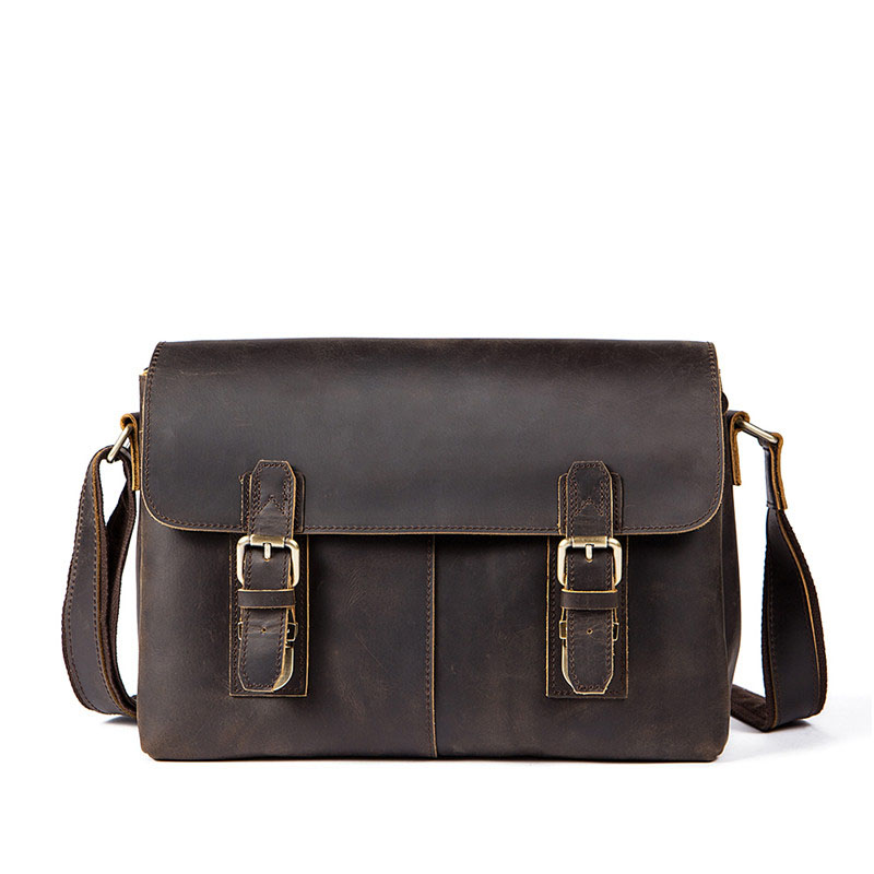 Male Men Vintage Briefcase Genuine Leather Men Bag Casual Messenger Bag Laptop Business Handbag Shoulder Male Men Travel Bags