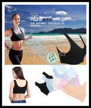 new sexy thin woman fitness sports bra lady no rims seamless gather underwear vest sport sleep bra lingerie tube top