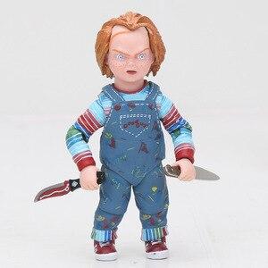 Image 4 - NECA Scary chucky Figuur Speelgoed Horror Films Kind Spelen Bruid van Chucky 1/10 Schaal Horror Pop speelgoed