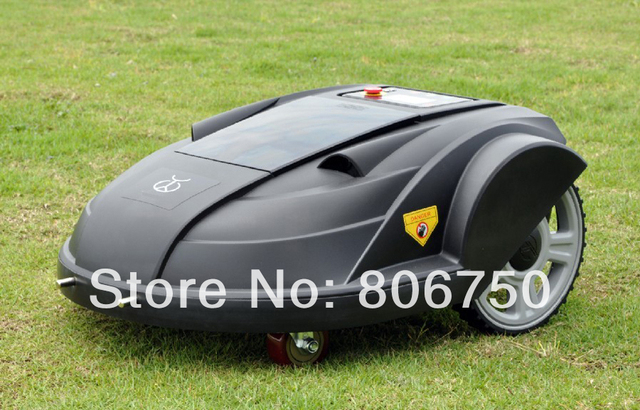 FEDEX Free Shipping Robot Lawn Mower With Newest Function :ELECONTRONIC COMPASS +Remote Controller,Auto Recharged,Time Set