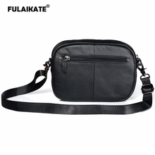FULAIKATE Genuine Leather Universal Bag for All the Mobile Phone Case Large Size Shoulder Pouch Portable Pocket iPhoneXs Max