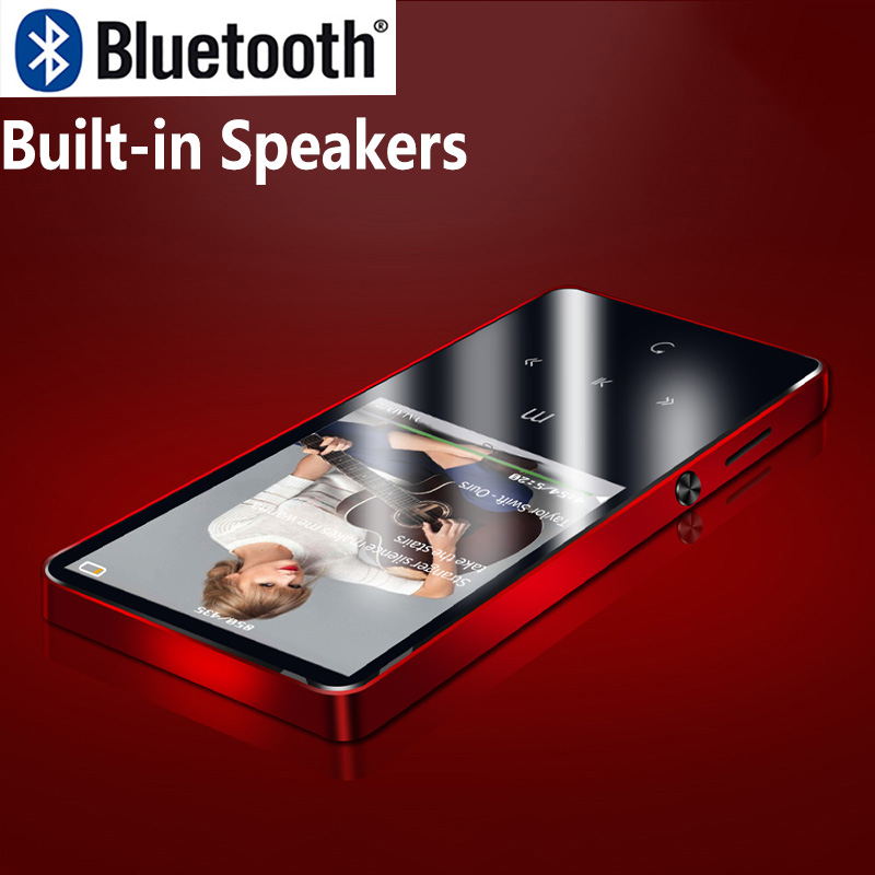 Original Bluetooth 4.2 Touch Screen Metal MP3 Player Built-in Speaker High Sound Quality Music Player with FM E-Book recorder цена