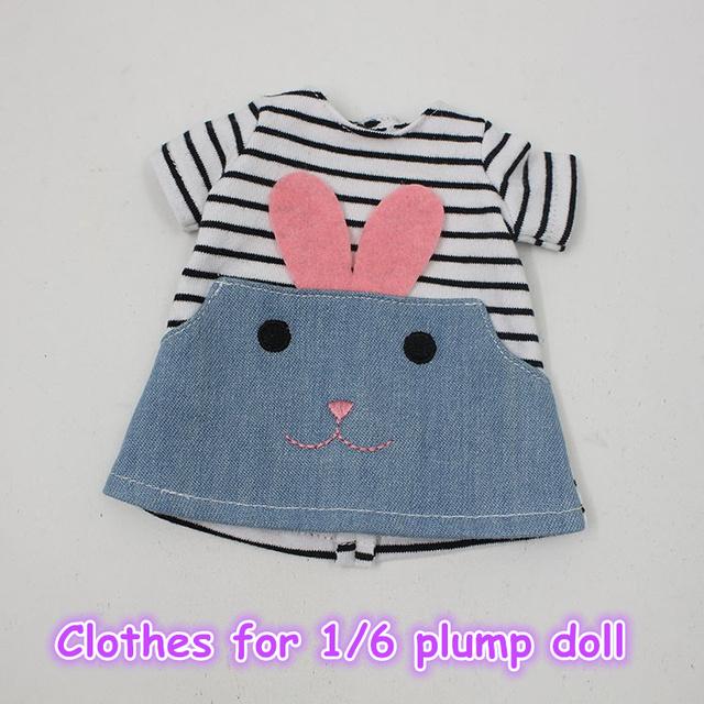 Clothes For Plump Blyth Cute Rabbit Dress Clothes
