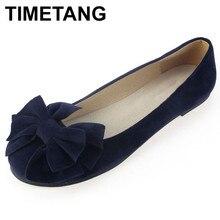 TIMETANG Xuân Hè Nơ Nữ giày đơn phẳng gót chân mềm mại dưới ba lê công việc đế giày người phụ nữ