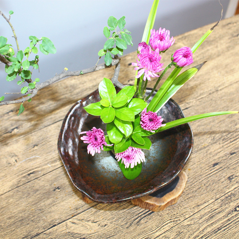 Lotus Plant Potted Indoor Table Top Simulation Bonsai Craft Green Plant Decorative Plastic Flower Tea Table Ornaments Set Lustrous Artificial Decorations Festive & Party Supplies