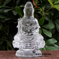 Purdue ancient high-grade glass Guanyin Buddha ornaments for security and peace to send a friend a gift