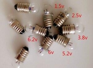 Mezcla de E10 físico eléctrico experimento bombilla pequeña 1,5 v 2,5 v 3,8 v 4,5 v 5,2 v 6,2 v 6v 0.3a 0.5a