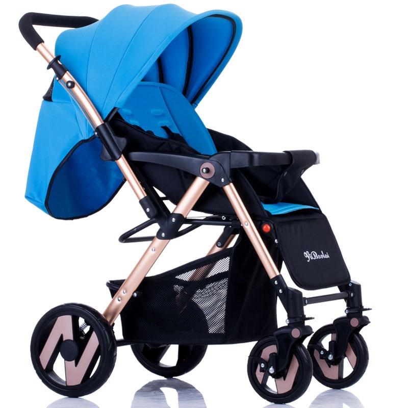 four wheel umbrella baby stroller aluminum alloy frame universal front wheel strollers for baby