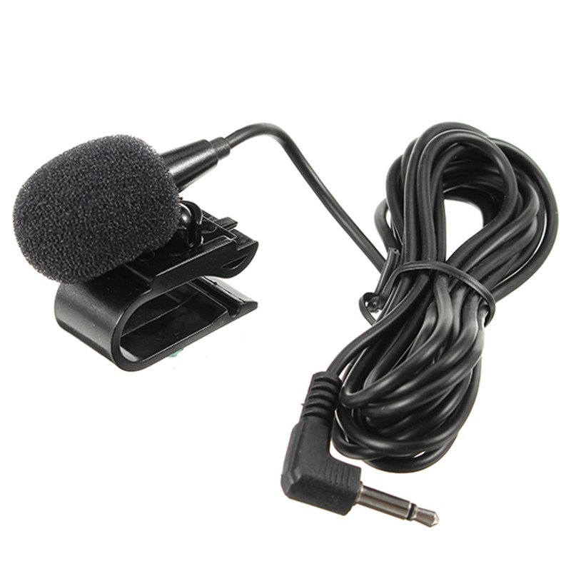 LEORY Mini Small Microphone Car GPS Collar Microphone 3.5mm Universial Microphone With Clip Radio Audio Microphone