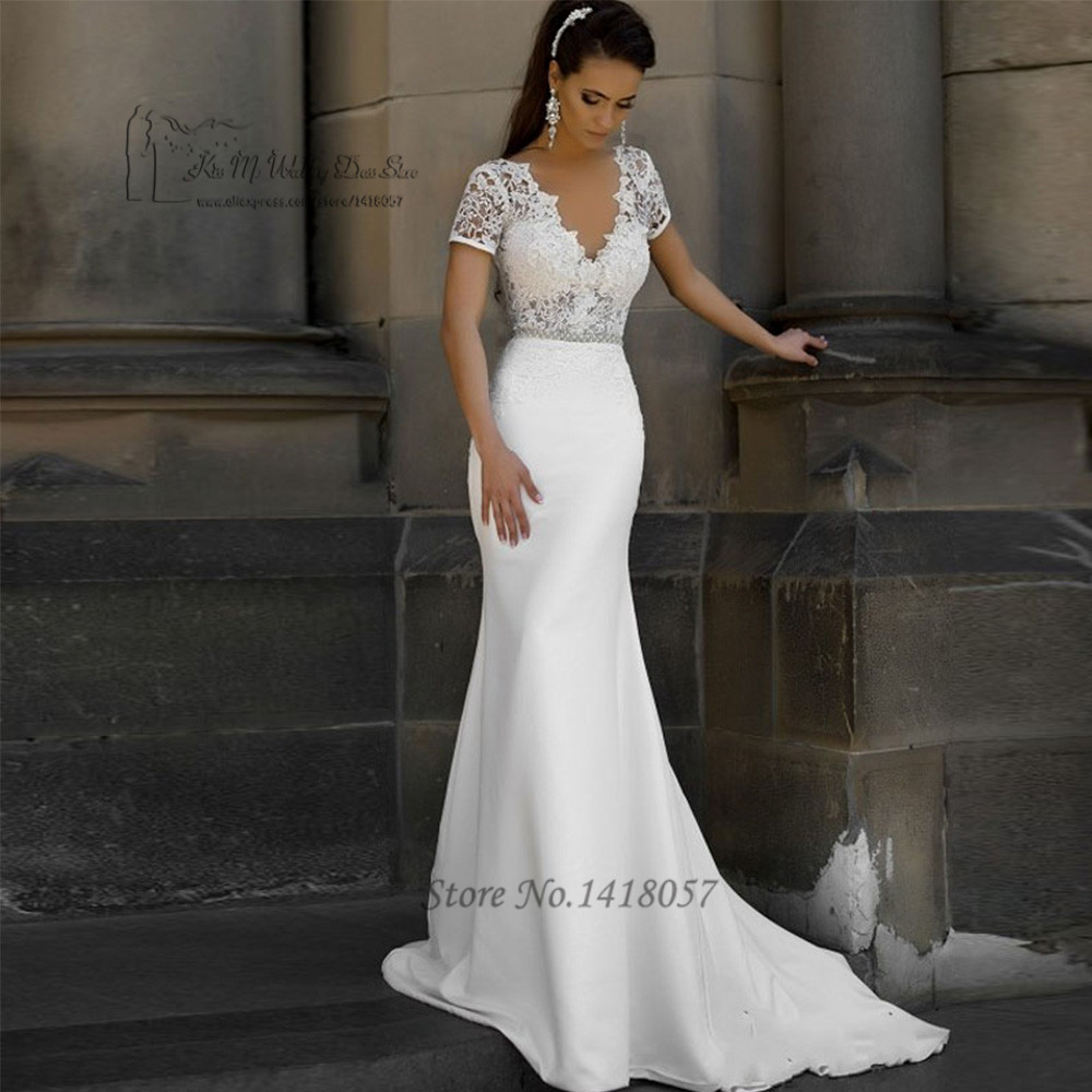 Buy russian style berta wedding dress for Short sleeved wedding dress