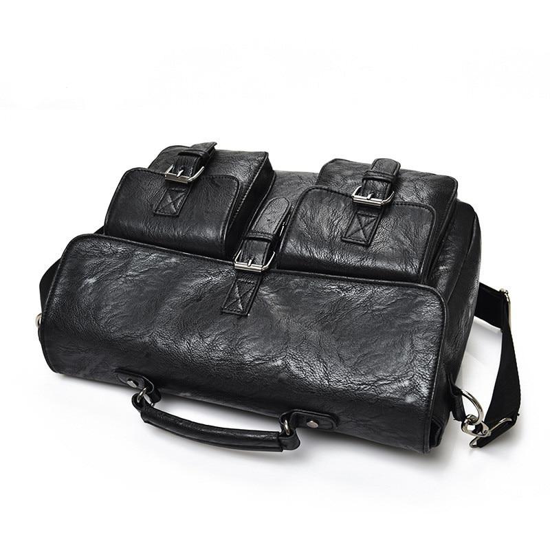 Nowy teczki wysokiej jakości skórzana torba na laptopa torba mężczyźni duża pojemność portfel torebka biznes Messenger mężczyzna torba bolso hombre w Teczki od Bagaże i torby na  Grupa 2