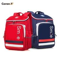Caran Y Smile 1 2 Grader Children School Bags School bags for girl Girl/Boy Backpack 16L Kids Bags Travel Backpack CX2744