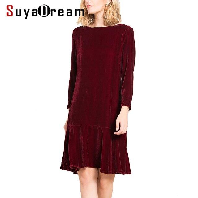 Kleid seide langarm