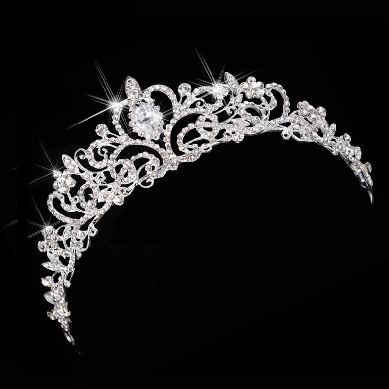 Luxury Wedding Bridal Austria Crystal Tiara Crowns Princess Queen Party Prom Rhinestone Tiara Headband Hair Jewelry Accessories