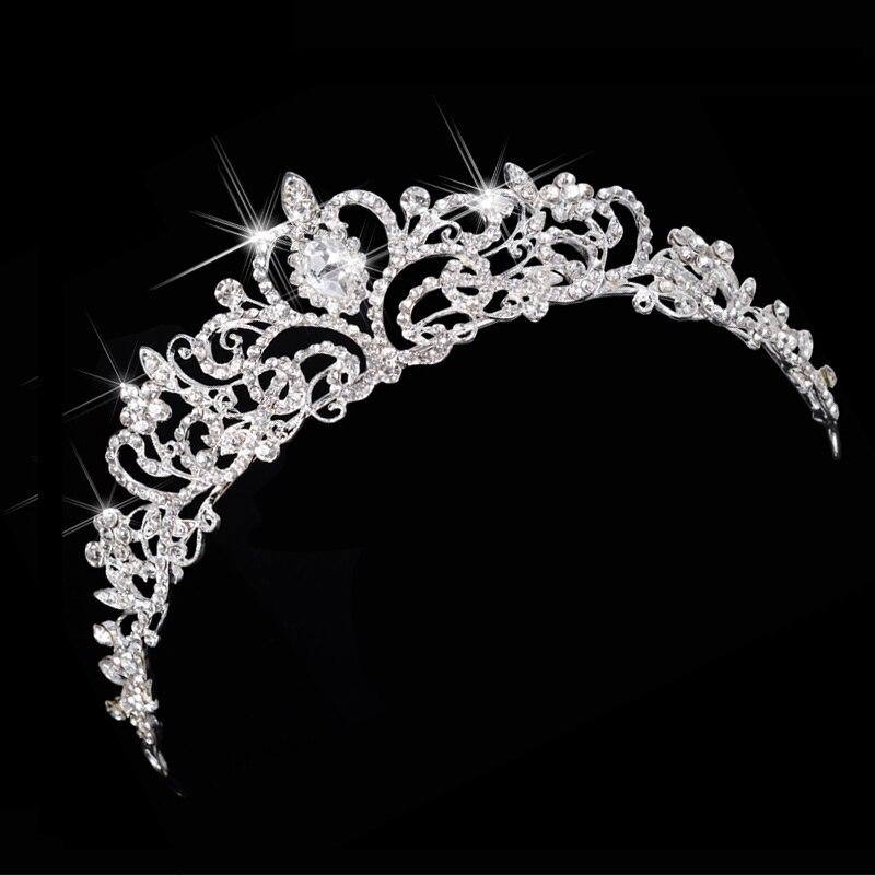 Lujo Boda nupcial Austria cristal Tiara coronas princesa reina fiesta graduación Rhinestone Tiara joyería, diadema para el cabello Accesorios