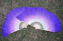 Женский Шелковый веер для танца живота дешевый двойной короткий