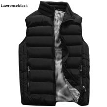 Vest Men Coats Sleeveless Jacket Plus-Size Winter Casual Fashion Stylish Warm Autumn
