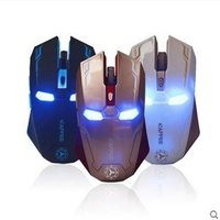 2017 New Iron Man Ultrathin 2 4GHz Wireless Rechargeable 2400DPI 6 Buttons Optical Usb Professional Gaming