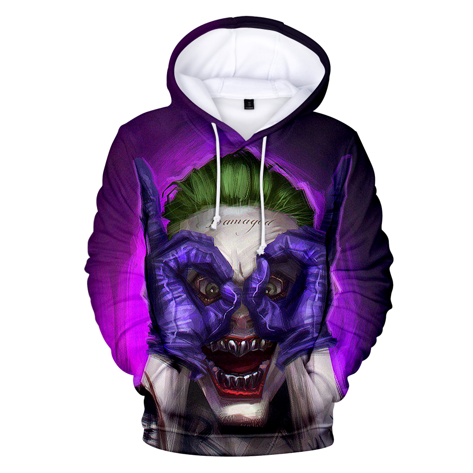 Joker 3D Print Sweatshirt Hoodies Men and women Hip Hop Funny Autumn Street wear Hoodies Sweatshirt For Couples Clothes 18