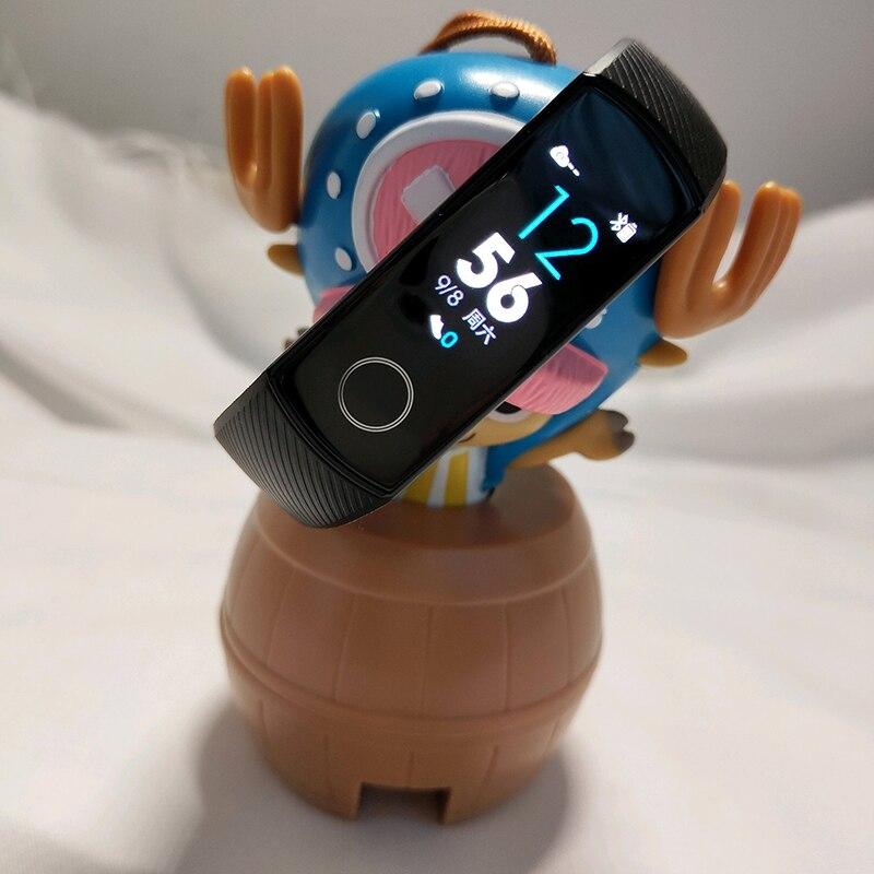 Original Honor banda 4 pulsera inteligente 50 m impermeable rastreador de ejercicios pantalla táctil del Monitor de ritmo cardíaco pantalla llamada mensaje mostrar - 2