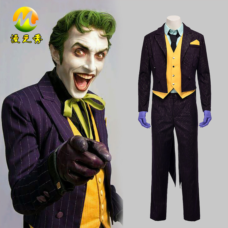Batman Arkham City Classic Joker Costume for Sale Cosplay Joker For Halloween Christmas Party