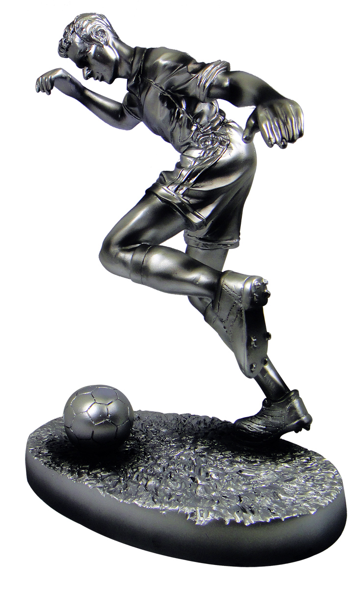 Free Printing soccer football World cup the best Player trophy Best center The best forward Fancy Football Trophy image