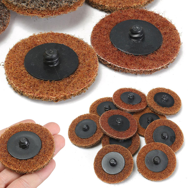 10pcs 2 Coarse Sanding Disc Metal Discs Abrasive Pad Roll Lock For
