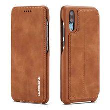 حافظة لهاتف Hawei P20 P30 P40 Pro Lite Nova 3e 4e 6se 7i Capa Fundas eتوي حافظة هاتف جلدية فاخرة
