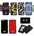 Italia marca de lujo abeja teléfono case para iphone 7 plus 6 6 s plus lemon sicilia azul logotipo de metal de cuero contraportada casos