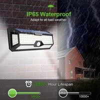 136 LED Solar Street Light For Home Garage Garden Light Solar Powered Wall Street Lamp with Motion Sensor Solar Light Waterproof