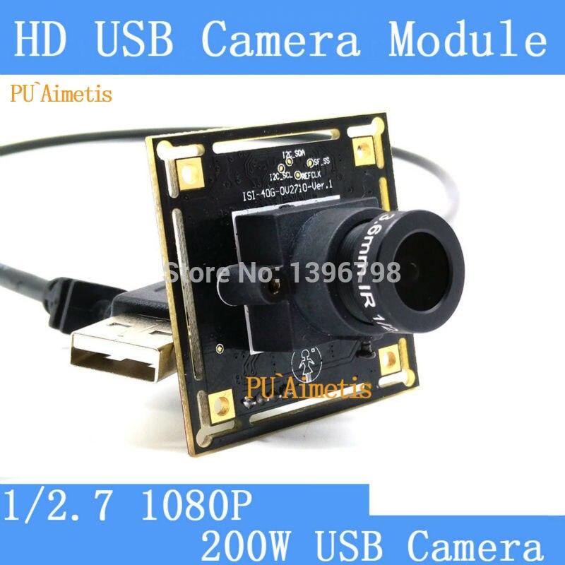 PU'Aimetis Überwachung kamera 1080 p Volle Hd MJPEG 30fps Hohe Geschwindigkeit OV2710 Mini CCTV Android Linux UVC Webcam USB Kamera modul