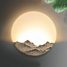 Chinese modern simple wall light bedroom hotel lamp creative bedside club office bra stair aisle decorative wall sconce fixture