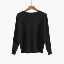 2018 Autumn Winter Vintage Women Sweater Long Sleeve Loose Knitted Pullover Army Green Sweaters Black Basic Crop Top