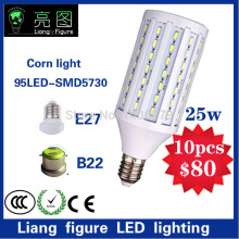 10 stks E27E14 25 W LED Maïs Licht 220 V 5730SMD wit/warm wit LED Corn lamp led voor woonkamer(China)