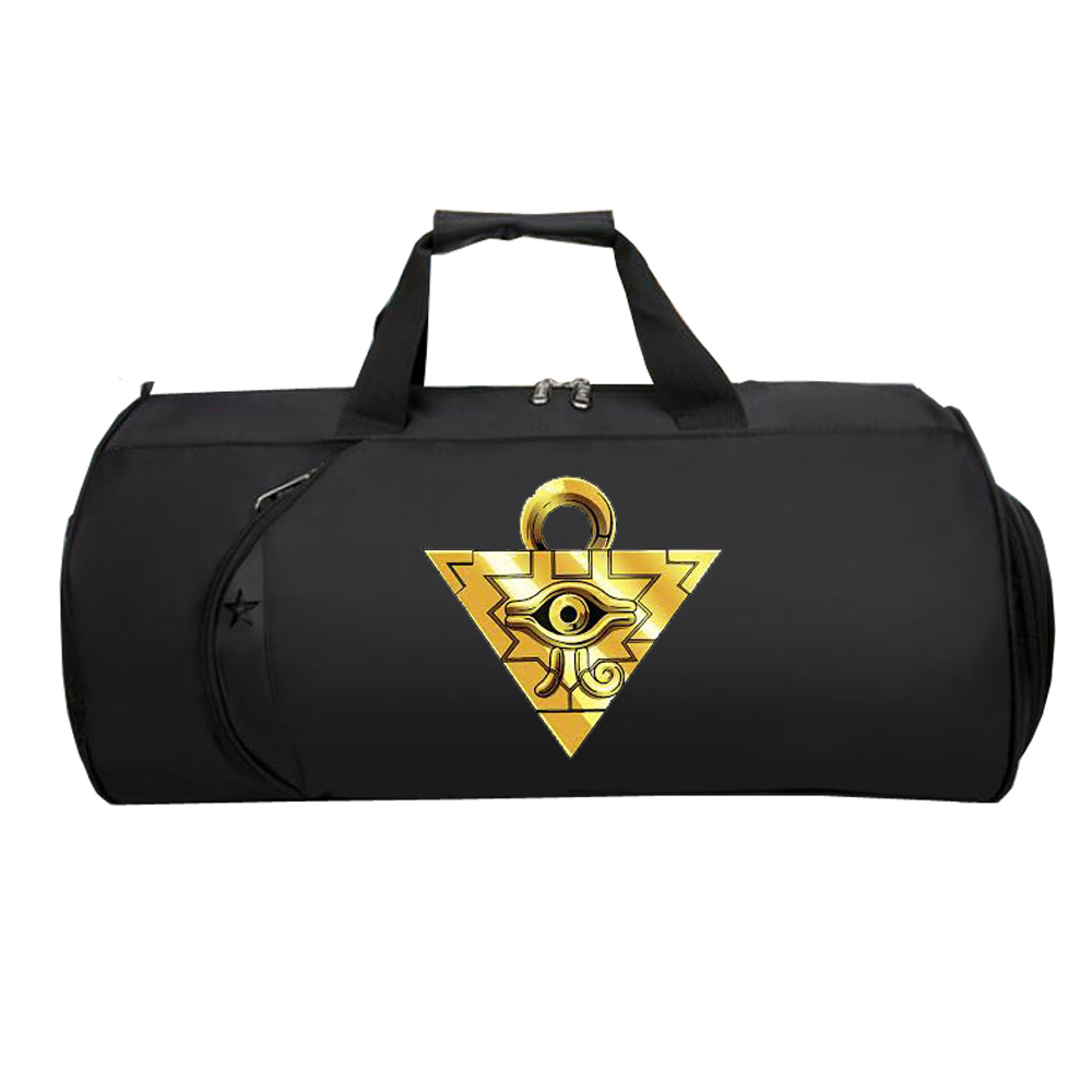 Men Women Travel Luggage Shoulder Package Shoes Pocket Handbag Multifunctional Large Travel Luggage Bag For Anime Game Yu Gi Oh