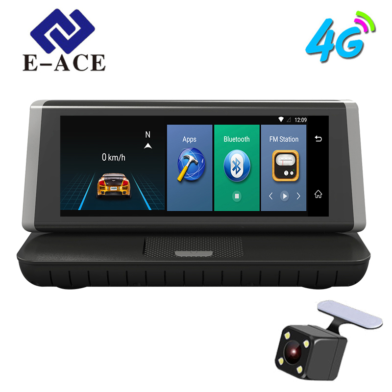 E-ACE E02 8inch 4G Car GPS Navigation Recorder Android 5.1 Navigators Automobile With DVR FHD 1080 Vehicle GPS Sat Nav Free Maps