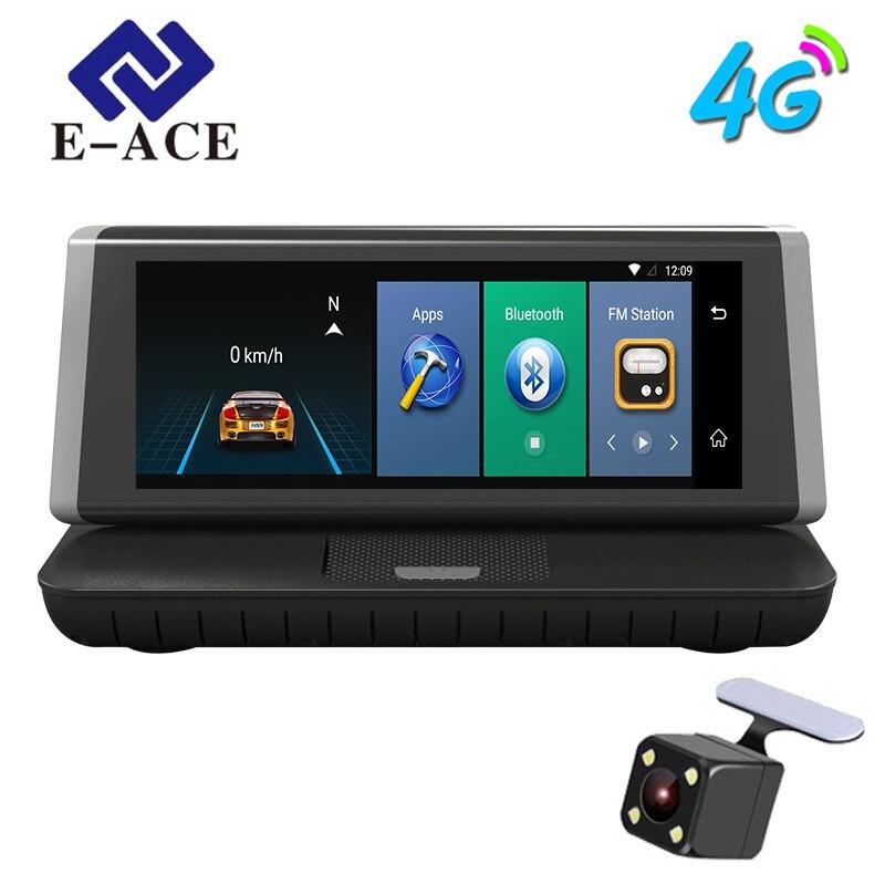 E-ACE 8 polegada 4G Gravador de Navegação GPS Do Carro Android 5.1 Navegadores automóvel Com DVR FHD 1080 Veículo GPS Sat Nav mapas Gratuitos