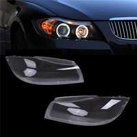 1 Pair Left Right Side Halogen Headlight Clear Transparent Lens Plastic Shell Cover For BMW E90 Sedan E91 Touring 2005 2008