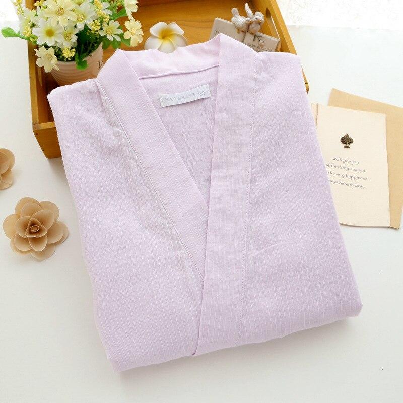 Image 4 - Women Pajamas Cotton Gauze Kimono Half sleeved Trousers Pyjamas Summer V Neck Sleepwear Loungewear Pijama Mujer Home Clothes-in Pajama Sets from Underwear & Sleepwears