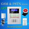 Бесплатная Доставка оптовых Беспроводной PSTN GSM Сигнализации Quad-Band 850/900/1800/1900 МГЦ с ЖК-ДИСПЛЕЙ 99 беспроводных зон и 2 проводных