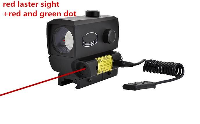 Baru merah dan hijau dot sight laser merah sight riflescope